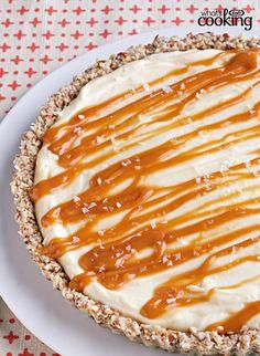 White Chocolate-Salted Caramel Tart #recipe