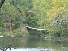 greenleaf state park suspension bridge Oklahoma