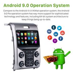 OEM Android 9.0 Radio GPS Navigation System for 2013 2014 2015 Ford F150 F250 F350 Expedition with OBD2 Bluetooth Mirror link DVD Player HD 1024*600 Touch Screen DVR TV Video WIFI USB SD Backup Camera Android Radio, Android 9, Ford F150 Accessories, 2015 Ford F150, Mirror Link, Digital Tv, Boy Toys, Backup Camera, Gps Navigation
