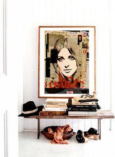 60s flash glance Collage face glance design retro por SoulArtCorner