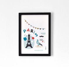 Paris  Affiche A4 par oelwein sur Etsy, €19,00