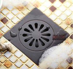Votamuta Oil Rubbed Bronze Anti-odor Floor Drain Anti-odor Core Bathroom Hardware Square Bathroom Shower Floor Drain 10 x If you have any questions,pls contact us/p Shower Head Holder, Led Shower Head, Shower Drain, Shower Set, Shower Floor, Shower Faucet, Rainfall Shower, Rain Shower, Black Bathroom Floor