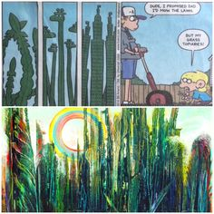 Good old #Foxtrot . Wonder if he had #MaxErnst 's trees in mind? Ha ha! Colorcatstudios101.etsy.com #colorcatstudios colorcatstudios.blogspot.com