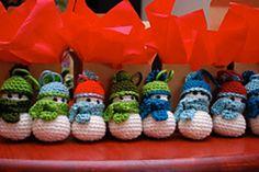 Amigurumis muñecos de nieve para el árbol de navidad con explicaciones
