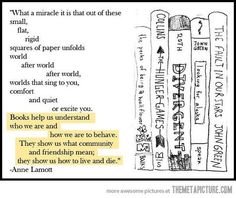 Not only the poem is great, but the five books on the right are five of my most favourite books.