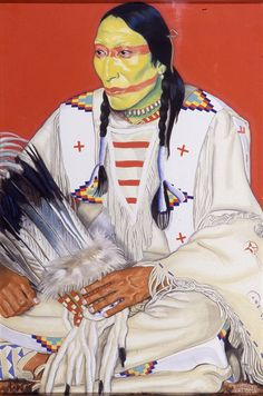 Big Bull Blackfoot, by Winold Reiss from Glenbow-Alberta Institute, Calgary, Alberta. Native American Paintings, Native American Artists, Native American History, Native American Indians, Native Americans, Blackfoot Indian, Native Indian, Bull Painting, Warrior Paint