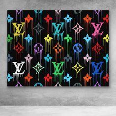 Louis Vuitton Paint HD Print on Canvas Home Decor Wall Art Poster inch Banksy Graffiti, Graffiti Wall Art, Graffiti Painting, Street Art Graffiti, Cute Canvas Paintings, Small Canvas Art, Diy Canvas Art, Canvas Art Prints, Wall Paintings