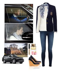 """""""En route to Anmer Hall with the Duke and Duchess of Cambridge."""" by hrh-princess-cornelia ❤ liked on Polyvore featuring Ralph Lauren, J Brand, Stuart Weitzman, Burberry, Lebor Gabala, Beulah, NARS Cosmetics, Eos, Marc by Marc Jacobs and katemiddleton"""