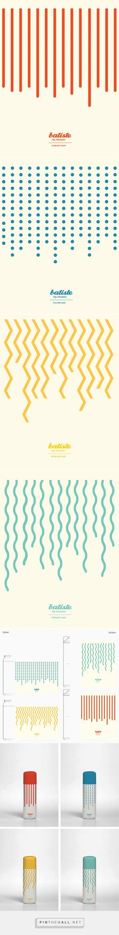 Batiste dry shampoo on Behance by Jara Domínguez curated by Packaging Diva PD. How fun is this packaging design?