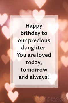 Happy birthday wishes for daughters, including heartwarming birthday quotes, poems, prayers, and funny wishes for your special girl. Happy Birthday Daughter Wishes, Birthday Message For Daughter, Funny Happy Birthday Messages, Happy Birthday Typography, Happy Birthday Best Friend, Happy Birthday Wishes Quotes, Birthday Poems, Birthday Wishes For Myself, Happy Birthday To Us