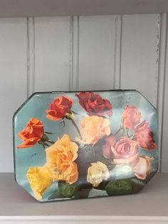 Pretty Vintage Floral Fry's Chocolates Tin