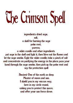 Magick Spells:  The Crimson #Spell.