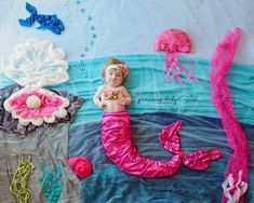 Beautiful baby mermaid with Trisomy 9 swimming in the ocean. Rare Disease Day The Precious Baby Project Baby ImaginArt by Angela Forker creative photography unique amazing cute funny awareness babies with special needs Fort Wayne New Haven Indiana