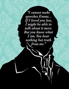 Jane Austen Emma Art Print 8x10 Mr Knightly by 10cameliaway
