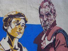 """Francesco Del Casino, il padre dei murales in Barbagia, ha deciso di onorare Vittorio De Seta, il regista di """"Banditi a Orgosolo"""" morto l'anno scorso, con una serie di pitture sui muri del Orgosolo"""