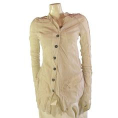Rundholz Dip - Off White Deconstructed Cotton Jacket SS15 Mandel 2551108