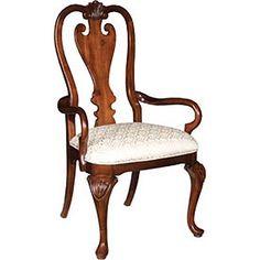 KC 60 062 Kincaid Furniture Carriage House Queen Anne Arm Chair FurnitureDining Room