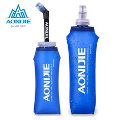 [Visit to Buy] AONIJIE Foldable Silicone Water Bottle Kettle Travel Sport Camping Hiking Walking Running Marathon soft Water Kettle #Advertisement