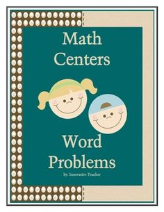 Math Centers Word Problem - Multi-Step CCSS includes 5 center activities to strengthen your students knowledge of word problems.