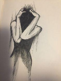 Sad sketches of women, sad sketches, drawing sketches, . Creepy Drawings, Dark Art Drawings, Pencil Art Drawings, Art Drawings Sketches, Cool Drawings, Creepy Sketches, Drawings With Meaning, Dark Art Illustrations, Meaningful Drawings
