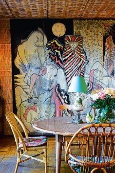 House tour: the tattoo-walled, French Riviera home of artist Jean Cocteau - Vogue Living Home Interior Design, Interior And Exterior, Interior Logo, Decoration Chic, French Riviera, New Wall, French Art, Home Deco, Interior Inspiration