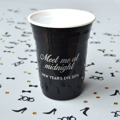New Years Eve 2016 party cup / Meet me at by BluePenguinShop