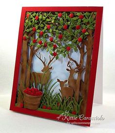 DTGD15kittie747 Deer and Apple Orchard by kittie747 - Cards and Paper Crafts at Splitcoaststampers
