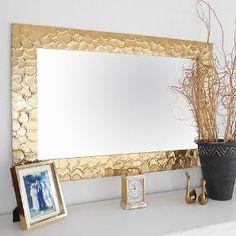diy knock off metallic mirror frame, crafts, home decor, how to, wall decor