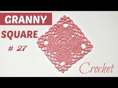 Crochet Lovely Granny Square In 20 Minutes - Crochet Ideas Granny Square Crochet Pattern, Crochet Flower Patterns, Crochet Squares, Crochet Motif, Crochet Doilies, Crochet Ideas, Granny Squares, Thread Crochet, Crochet Stitches