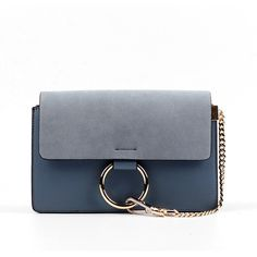 Leather and Faux Suede Mini Chain Shoulder Bag ($100) ❤ liked on Polyvore featuring bags, handbags, shoulder bags, grey, gray purse, gray shoulder bag, leather handbags, genuine leather handbags and grey purse