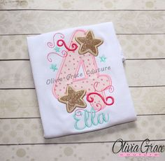 Girls Star Birthday Shirt Twinkle Little by OliviaGraceCouture