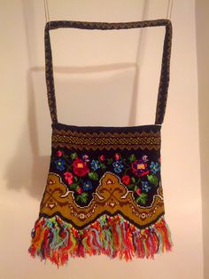Embroidered Bag  * The embroidery of this bag was made in the 70s, by my grandmother in a village of Romania. #folkloricbag #embroideredbag #bohobag #vintagebag #vintage #boho #folkloric #folklore https://www.etsy.com/listing/219448751/folkloric-bag-vintage-embroidered-bag?