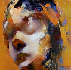 Abstract Faces, Abstract Portrait, Portrait Art, Portraits, Portrait Paintings, Figure Painting, Painting & Drawing, Distortion Art, Drawing Sketches