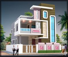 Simple Home Tower Design 53 Best Architecture Images Indian House Plans House Map House Small House Elevations Small House Front View Designs House Tower Design In India Gif M. House Front Wall Design, Single Floor House Design, Two Story House Design, Modern Small House Design, Bungalow House Design, Front Elevation Designs, House Elevation, Building Elevation, Indian House Plans