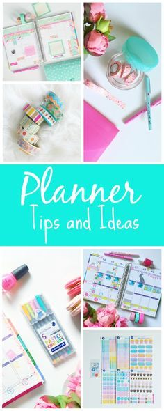 Planner Tips and Ideas - The Chic Life #mychicplanner (tutorials, tips, videos, and inspiration for decorating your Erin Condren Life Planner or other planner) Note: this page will be updated with new content over time so check back often!