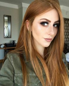 Towards this shade cabello rubio cobrizo, rubio beige, tinte cobrizo, cabel Light Copper Hair, Light Hair, Hair Color Copper Brown, Short Copper Hair, Golden Copper Hair, Light Auburn Hair Color, Copper Blonde Hair, Hair Looks, New Hair