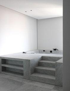 Lithoverde® by Salvatori for a Penthouse in Dubai Minimalist contemporary bathroom design.