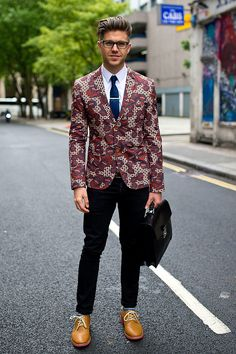 Blazers with psychodelic prints are the best.