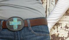 belt buckle cross