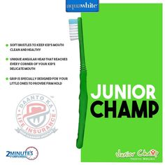 The soft bristles of Junior Champ provide extra care to your kid's teeth while brushing. Brushing, Champs, Little Ones, Teeth, Aqua, Gallery, Kids, Image, Young Children