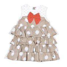 """Petit Lem """"Orange Blossom"""" Polka Dot Dress,"""
