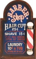 unique decoration for a den. This old-timey Barber Shop sign will be ...