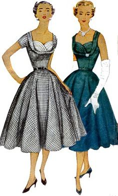 Vintage 50s Simplicity 4704 ROCKABILLY SHELF BUST Fitted Bodice Dress Pattern Size 14 Bust 32. $20.00, via Etsy.