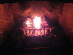 upside down fireplace fire