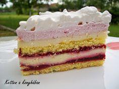 Ketten a konyhában: Fehércsoki mousse-málna torta Hungarian Desserts, Mousse, Vanilla Cake, Breakfast Recipes, Sweets, Foods, Cakes, Kitchen, Gifts