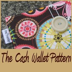 Cash wallet pattern -- I really need to say goodbye to the sad white envelopes in my wallet.