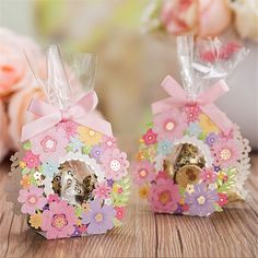 50 Pink Flower Wreath Wedding Favor Boxes/DIY Wedding Favors for Guests/Transparent Wedding Gift Boxes/Spring Gift Boxes/DIY Window Favors Diy Wedding Gifts, Wedding Favors For Guests, Wedding Candy Boxes, Candy Packaging, Alice, Party In A Box, Tea Party, Diy Gift Box, Diy Flowers
