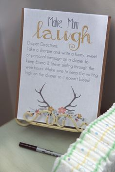 Add some fun to diaper changes! In this creative Baby Shower Game, guests write a funny note or piece of advice to the new parents-to-be on a diaper/nappy!  BabyBump - the app for pregnancy - babybumpapp.com