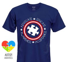 Captain America Themed Autism Shirt Multiple Design