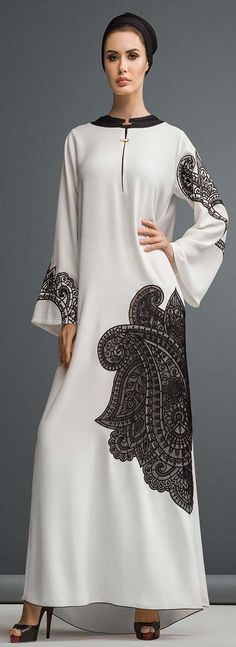 Appliqué and lased cut abaya collection for ladies in dubai style Abaya is considered as Muslim women wearing that is worn out over the dress to cover out Abaya Style, Abaya Chic, Hijab Abaya, Islamic Fashion, Muslim Fashion, Modest Fashion, Modest Dresses, Modest Outfits, Modest Wear